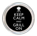 C8271- Keep Calm and Grill On Coaster