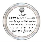 C8273- I love cooking with wine.. Coaster