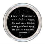 C8312-Good Friends are like stars quote Coaster