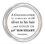 C8340-A Grandfather is someone with silver in his hair and gold in his heart coaster