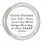C8474-Good Friends are like stars quote Coaster White