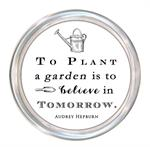 FM8608-To plant a garden is to believe in the future Audrey Hepburn Face Mask