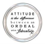 C8617-Attitude Is The Difference Between An Ordeal And An Adventure Coaster
