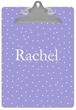 CB1107 - Lavender Tiny Dot Personalized Clipboard