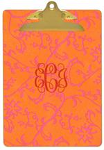 CB1174 - Morroccan Orange Monogrammed Clipboard