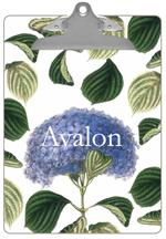 CB1207 - Blue Hydrangea with Leaves Personalized Clipboard