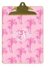 CB1211-Pink Palms Personalized Clipboard