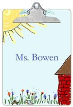 CB1268-School House Personalized Clipboard