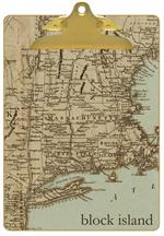 CB1480 - Antique Northeast Map Personalized Clipboard