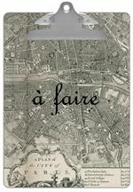 CB1481 - Antique Paris Map Personalized Clipboard