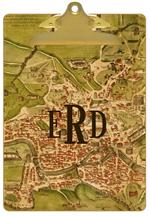 CB1482 - Roma Antique Map Personalized Clipboard