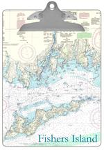 CB1490 - Fishers Island Nautical Map Personalized Clipboard