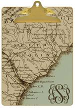 CB1708-South Carolina Coast Map Personalized Clipboard