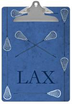 CB1745 - Lacrosse Sticks on Blue Clipboard