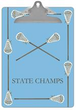 CB1789 - Lacrosse Sticks on Light Blue Clipboard