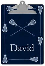 CB2272 - Lacrosse Sticks on Navy Personalized Clipboard