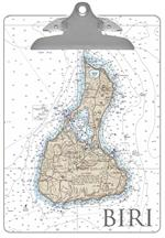 CB2487-Block Island Nautical Chart Clipboard