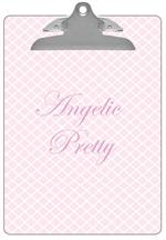 CB2604 - Chelsea Light Pink Personalized Clipboard