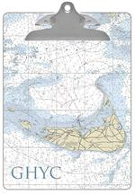 CB2721-Nantucket Nautical Chart Clipboard