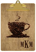 CB2733-Coffee Lover Personalized Clipboard