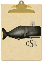 CB2778 - Vintage Grey Whale Clipboard