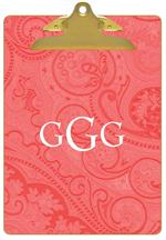 CB2780 - Coral Paisley Southern Living Coral Clipboard