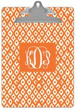 CB2810-Ikat Orange Clipboard