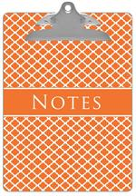CB2855-Chelsea Orange Clipboard
