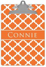 CB2864 - Orange Chelsea Grande Personalized Clipboard