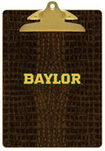 CB3100-Gold Baylor on Brown Crock Clipboard