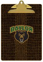 CB3101-Baylor with Bear Head on Brown Crock Clipboard