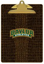 CB3102-Baylor with Bear Head on Brown Crock Clipboard