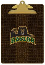 CB3104-Baylor with Bear Head on Brown Crock Clipboard