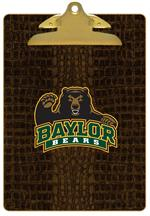CB3105-Baylor with Bear Head on Brown Crock Clipboard