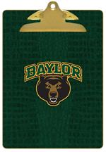CB3106-Baylor with Bear Head on Green Crock Clipboard