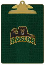 CB3109-Baylor with Bear on Green Crock Clipboard