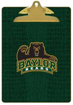 CB3110-Baylor Bears with Bear on Green Crock Clipboard