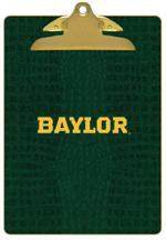 CB3111-Gold Baylor on Green Crock Clipboard