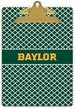 CB3112-Baylor with Bear Head on Brown Crock Clipboard