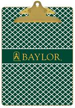 CB3113-Baylor with Bear Head on Brown Crock Clipboard