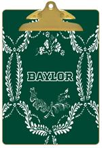 CB3114-Baylor with Bear Head on Brown Crock Clipboard