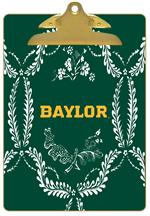 CB3115-Baylor with Bear Head on Brown Crock Clipboard