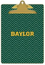 CB3116-Baylor with Bear Head on Brown Crock Clipboard