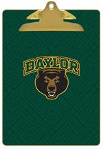 CB3118-Baylor with Bear Head on Brown Crock Clipboard