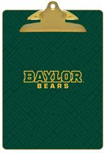 CB3119-Baylor with Bear Head on Brown Crock Clipboard