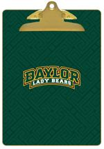 CB3120-Baylor with Bear Head on Brown Crock Clipboard