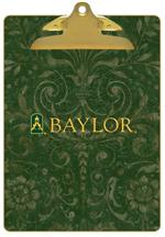 CB3121-Baylor with Bear Head on Brown Crock Clipboard