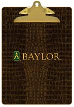 CB3122-Baylor with Bear Head on Brown Crock Clipboard