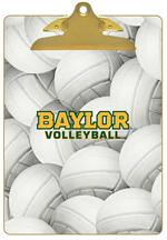 CB3127-Baylor Volleyball Clipboard