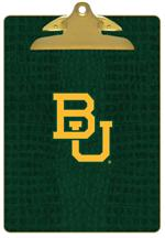 CB3128-Baylor Interlocking BU on Green Crock Clipboard